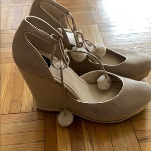 White House Black Market Suede Wedges